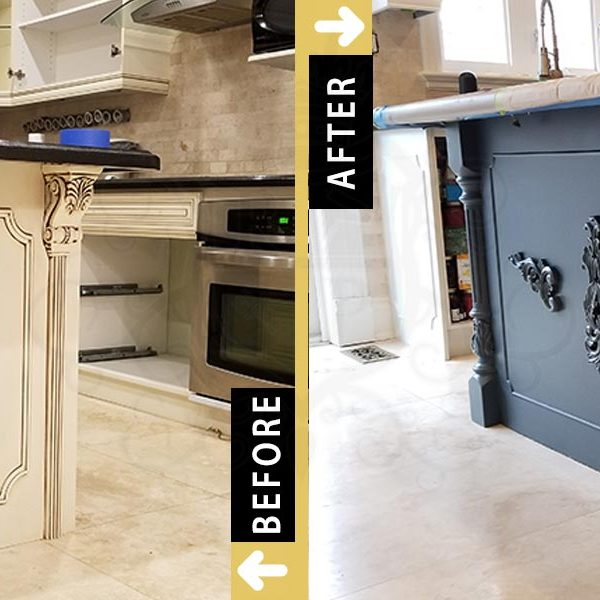 Island Cabinets Kitchen Painting Toronto Downtown