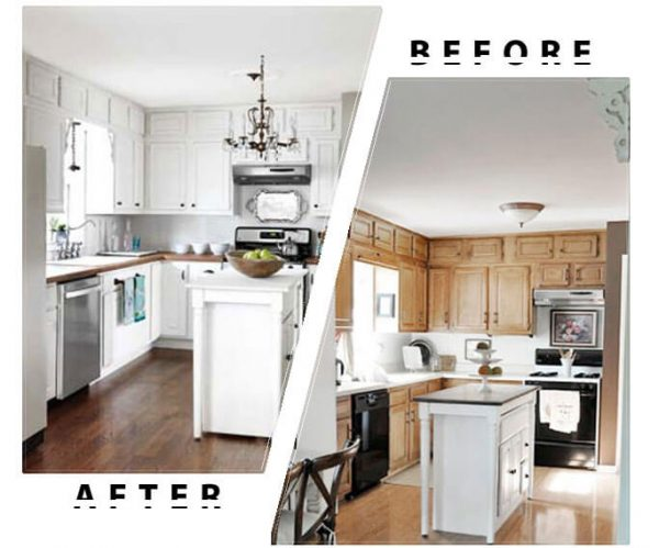 Kitchen Cabinets Spray Painting Before After Toronto
