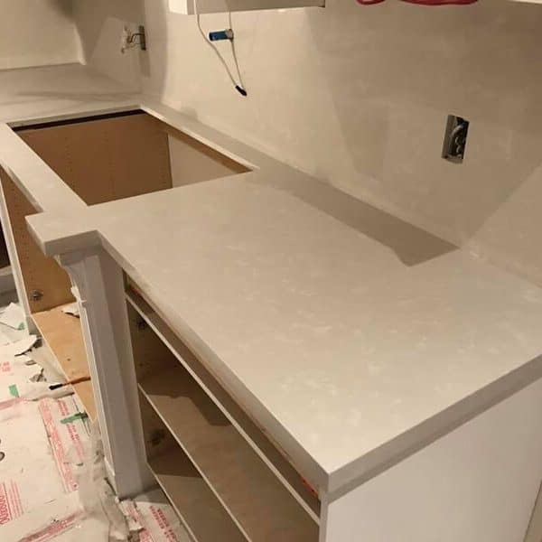 Light Grey Kitchen Cabinet Quartz Countertop Installation Price Vaughan