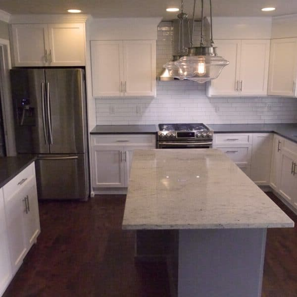 White Kitchen Cabinet Renovation Countertop Quartz Richmond Hill
