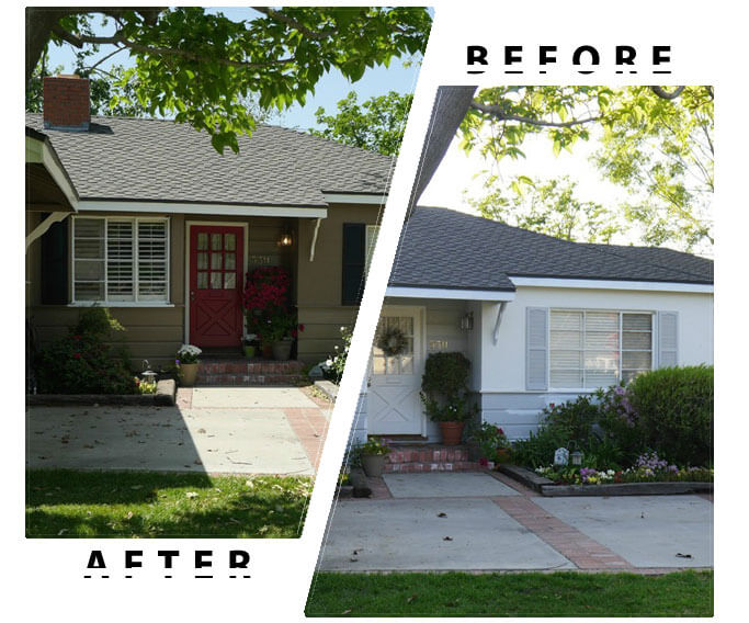 Royal home painters toronto interior painting house painting promotion for Exterior house paint before and after