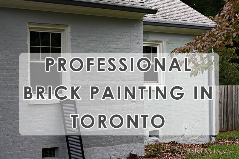 Painted Brick House In Richmond Hill
