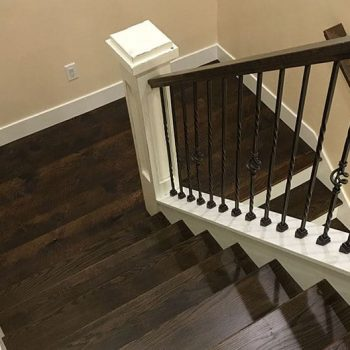 Painting And Restaining Staircase Stair Rails Markham
