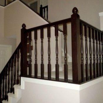 Restaining Your Staircase Railings Thornhill After Photo