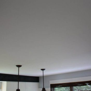 Smooth Finished After Sanding Ceiling Flattening