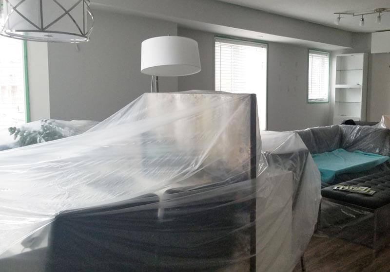 Drop sheet Preparing a house in Toronto for painters