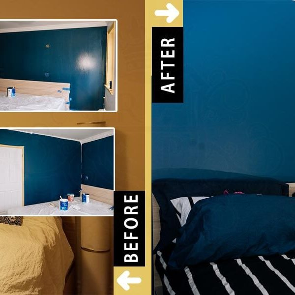 Master Bedroom Painting Accent Wall Don Mills Toronto Before After
