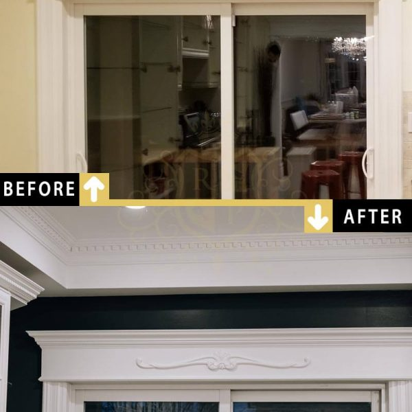 Painting Door Frame Mantel Toronto Downtown Accent Wall