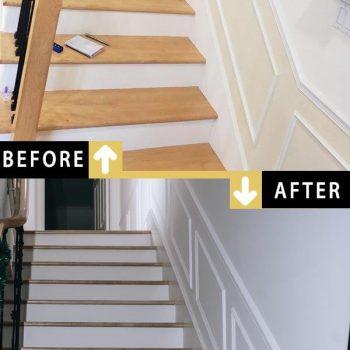 Painting Stairway Hallway Walls Wainscoting Painting Toronto