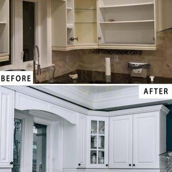 Refinishing Cabinet Doors Installing Backsplash Complete Remodeling Kitchen Toronto