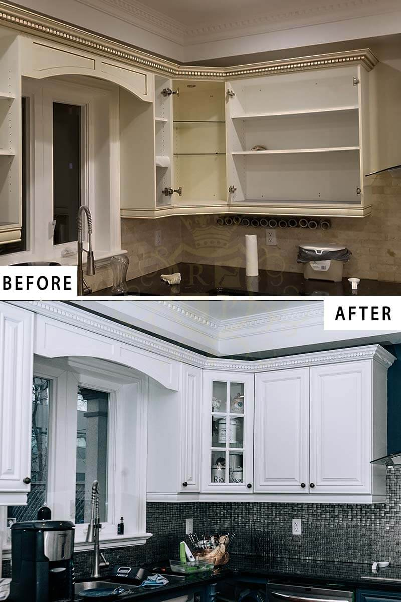 Kitchen Cabinets Painting | Cupboards Spray Painting ...