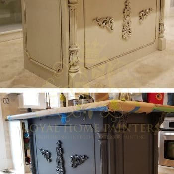 Richmond Hill Kitchen Island Painting Before After