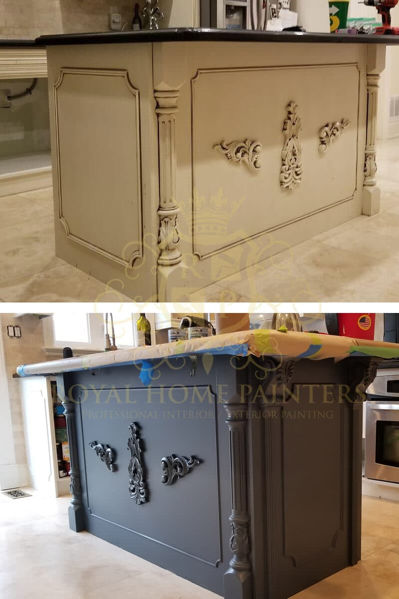 Terrific Kitchen Cabinets Painting Cupboards Spray Painting Complete Home Design Collection Papxelindsey Bellcom