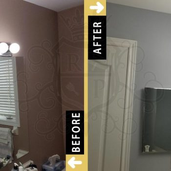 Washroom repainting cost before after photo gallery toronto vaughan