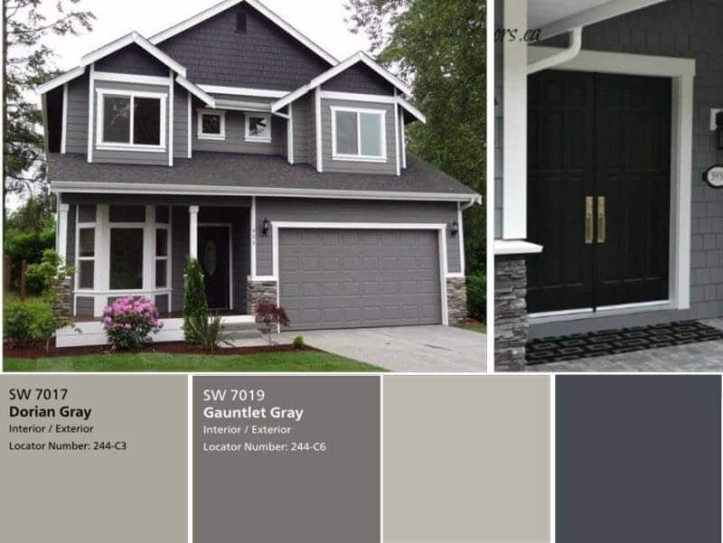 Exterior Painting Sample Colour by Benjamin Moore Toronto