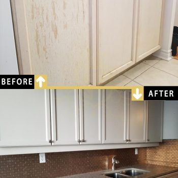 Repainting Condo Kitchen Cabinets Doors Drawers in North York