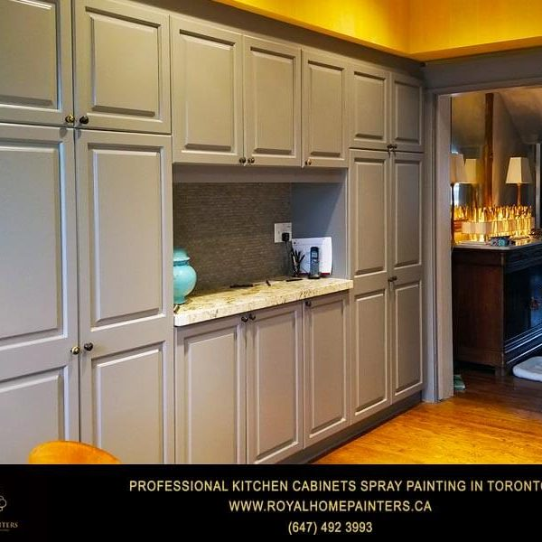 Spray Painting Kitchen Cabinets Gray Dark Idea Summerhill Toronto