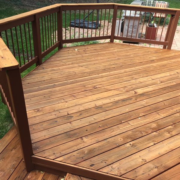 Exterior Backyard Deck Restaining Service Free Estimate