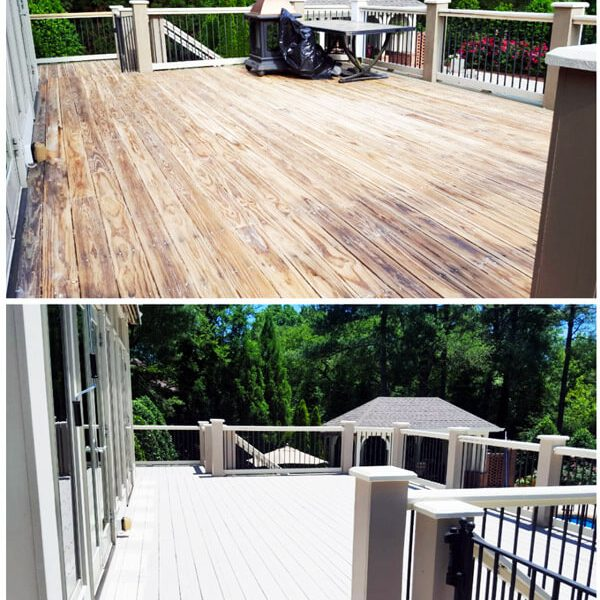 Old Deck Painting Toronto Etobicoke Downtown