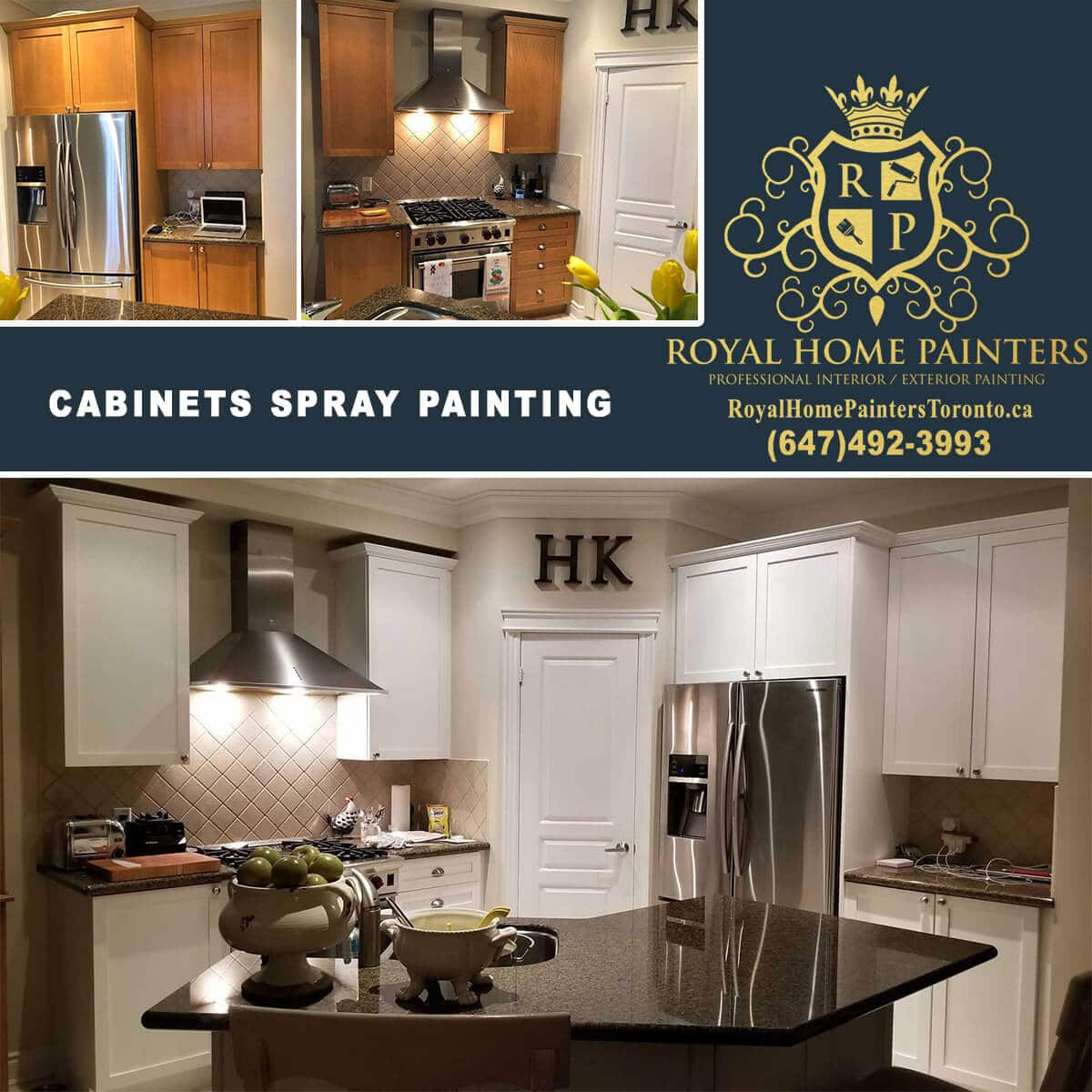 Professional Kitchen Cabinets Spray Painting Toronto