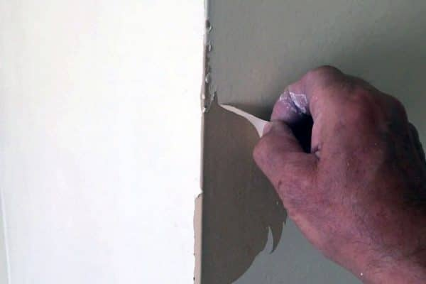 how to remove peeling paint from drywall