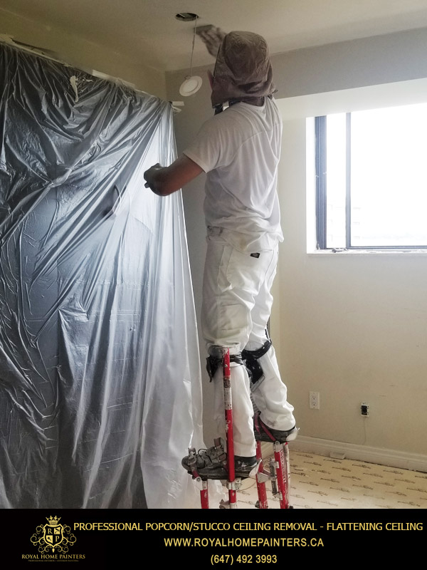 Professional Popcorn/stucco Ceiling Removal - Flattening Ceiling