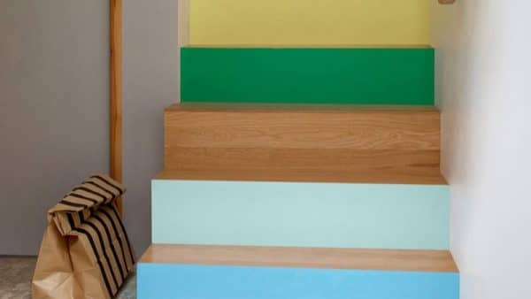 Multiple Colour Creative Staircase Painting Idea