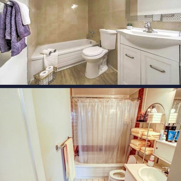 Painting Bathroom In Condo In Thornhill