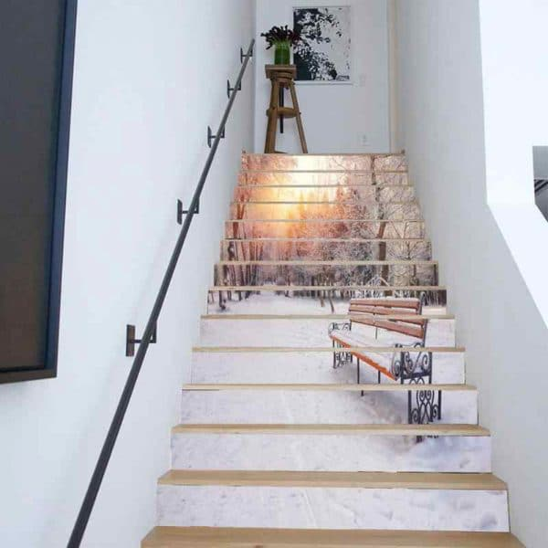 Wall Mural Creative Stairs Painting Project