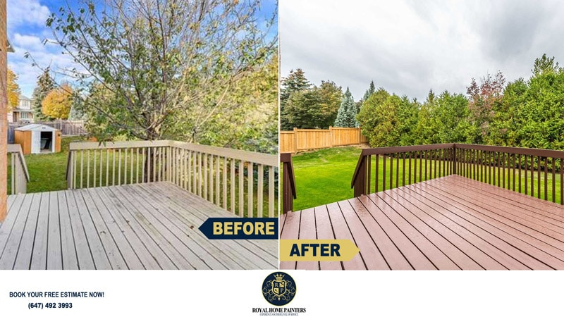Backyard Deck Staining Exterior Vaughan