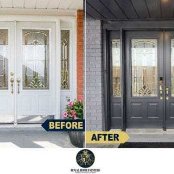 Exterior Front Door Entry Painting Staining Refinishing
