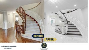 Staircase-Painting-Restaining-Carpet-Removal-Thornhill